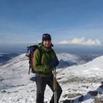 Gordon on Snowdon last winter