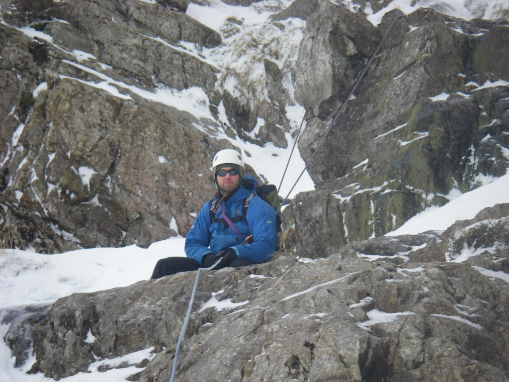 Simon Winter climbing in Snowdonia